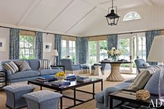 Traditional Living Room by Thomas Pheasant and David Jones Architects in St. Michaels, Maryland