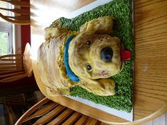3-D Dog Cake