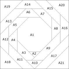Patchwork pattern: Snowball