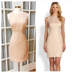 Blush & Gold Kate Spade Dress Gorgeous shimmering Kate Spade dress in like-new condition! Worn once. Beautiful light pink color with champagne/gold metallic threading. Gold zipper up back, pink lining underneath. kate spade Dresses
