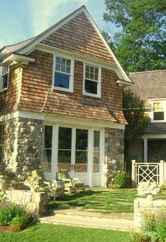 Traditional with Stone and Shingle Exterior