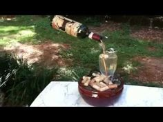 Wine Decor - Your Suggestions About Wine Are Available Down Below Wine Bottle Fountain, Barrel Fountain, Table Fountain, Diy Water Fountain, Diy Garden Fountains, Wine Bottle Corks, Wine Bottle Crafts, Waterfall Fountain, Bottle Trees