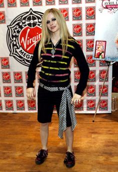 "Worst dressed list: Avril Lavigne For MOST people, the ""ZOMBIE"" look is for Halloween...for HER...it's EVERY FREAKIN DAY!"