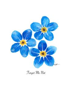 Watercolor paintings - floral illustration watercolor painting print forget me not chic wall art blue home decoration watercolor poster dressing room art Illustration Blume, Watercolor Illustration, Tattoo On, Body Art Tattoos, Blue Tattoo, Watercolor Flowers, Watercolor Paintings, Tattoo Watercolor, Watercolors