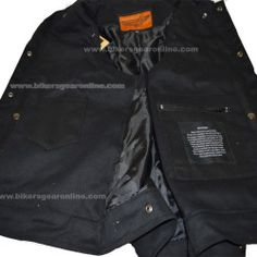 Denim Leather Motorcycle Vest