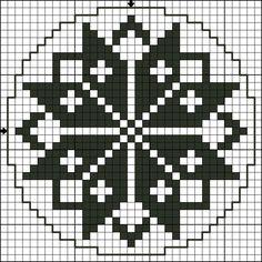 Vorlage -pattern by Tantes zolder Cross Stitching, Cross Stitch Embroidery, Cross Stitch Patterns, Filet Crochet Charts, Knitting Charts, Crochet Quilt, Tapestry Crochet, Hama Beads, Perler Patterns