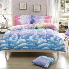 Duvet Cover/ Sheet / Pillowcase Set Rainbow Cloud