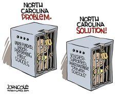 Judge Smacks Down North Carolina's Discriminatory School Voucher Law #EditorialCartoon #Education