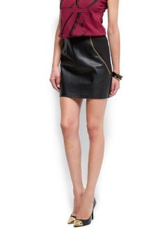 Mango Women's Faux Leather Panel Miniskirt  Click Picture for More Info