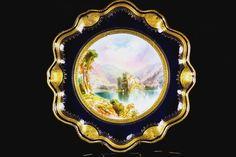 ANTIQUE AYNSLEY PLATE JOSEPH BIRBECK CASTLE SCENE PATTERN 2434 C.1875+ | eBay