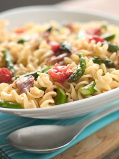 Secret Ingredient: ProsciuttoThis colorful pasta dish is packed with great flavor and can be assembled quickly on a weeknight. To learn how to make this recipe, watch the  Secret Ingredient cooking show.