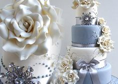 wedding cake with bling | Contemporary Wedding Cakes in North Norfolk Fabulous Cake Makers