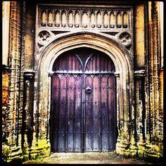 St Mary's Church, Witney, Oxfordshire  #church #door #concrete #stone #wood #iron #handle #spirit #decorate #ornate #curve #round #pillar #brick