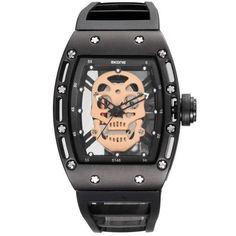3b03c5514dc skull watch black Relógios De Pulso