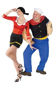 olive oyl and popeye couples costumes party city