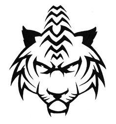 tiger tribal art | deviantART: More Like Tribal Tiger Tattoo by ~JONZICOW