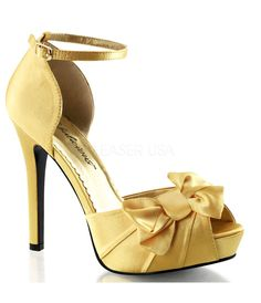 Discount Best Wholesale Fabulicious Lumina 34 Pump(Women's) -Champagne Satin Pre Order Discount Official Site Huge Surprise Cheap Online Buy Cheap Get To Buy Im3ak