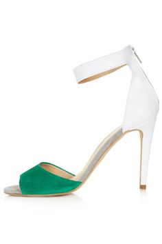 white and green heel