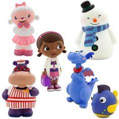 Disney Junior DOC MCSTUFFINS 6 Piece Bath Set Featuring Doc Mcstuffins, Stuffy, Lambie, Hallie, Chilly and Squeakers Bath Toys measuring 2 to 5 Inches Tall Disney http://www.amazon.com/dp/B00KYWIGG4/ref=cm_sw_r_pi_dp_dxsoub01F5BMY