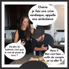 Chérie je fais une crise cardiaque - Humour-France.fr