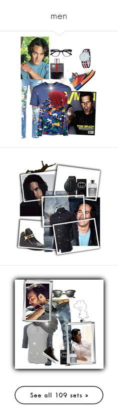 """men"" by princhelle-mack ❤ liked on Polyvore featuring Palm Angels, Comme des Garçons, Valentino, Moschino, Coal, Prada, men's fashion, menswear, Giuseppe Zanotti and Skagen"