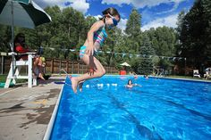 Swimming at the Telluride Town Park is a great way to escape the summer heat.