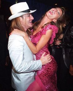 "Gisele Bündchen & John Galliano at the launch of Dior ""Addict"" fragrance in October Source: Harper's Bazaar Australia Dior Addict, Gisele Bundchen, John Galliano, Panama Hat, Cowboy Hats, Product Launch, Color, Black, Party"