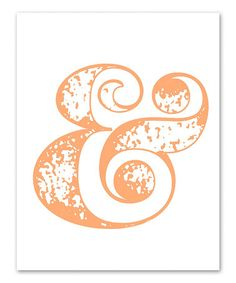Look what I found on #zulily! Peach Ampersand Screen Print by IScreenYouScreen #zulilyfinds