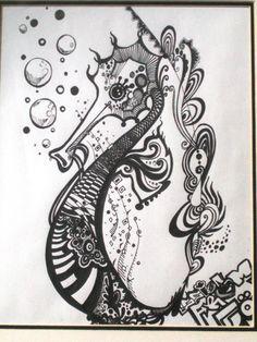 seahorse   artbyChelly..