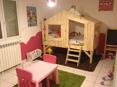 lits cabanes Girl Room, Baby Room, House Beds, Holidays And Events, Toddler Bed, Pirate Ships, Wood Ideas, Furniture, Crochet