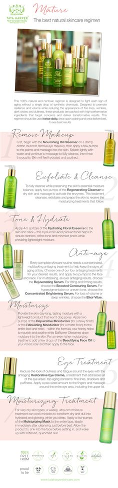 Tata Harper's complete 100% natural, nontoxic antiaging regimen for mature skin types. See a step-by-step guide to her recommended routine!