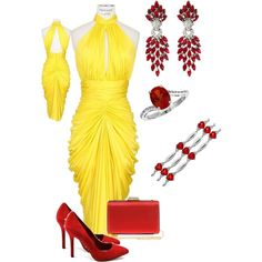 """Golden Lady"" by tianacos on Polyvore"
