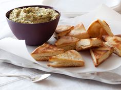 White Bean Dip with Pita Chips Recipe : Giada De Laurentiis : Food Network - FoodNetwork.com