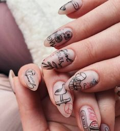 Keep reading for 90 of our favorite easy winter nail designs to add to your manicure to-do list. Almond Acrylic Nails, Best Acrylic Nails, Minimalist Nails, Nail Swag, Punk Nails, Grunge Nails, Almond Nails Designs, Winter Nail Designs, Stylish Nails