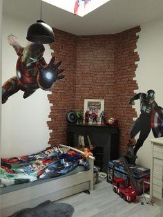 1000 id es sur chambre avengers sur pinterest chambres de gar on peintures murales et - Deco chambre avengers ...