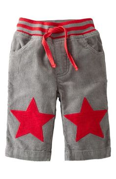 Mini Boden 'Star Patch' Pants (Baby Boys) available at #Nordstrom
