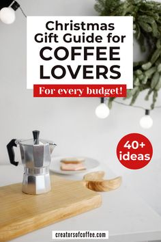 Looking for christmas gifts for coffee lovers? This bumper gift guide for coffee lovers is full of great gift ideas for coffee drinkers.  From $5 to $500 you are sure to find the perfect coffee christmas gifts for family and friends | Best gifts for coffee lovers | Coffee lovers gift set | Santa gifts for coworkers | Holiday gift guide | Coffee presents |  Christmas gifts | Christmas gift guide #christmasgifts #giftguide Best Espresso Beans, Espresso At Home, I Love Coffee, Coffee Time, Coffee Coffee, Coffee Beans, Best Coffee Maker, French Press Coffee Maker, Coffee Lover Gifts