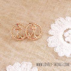 Anker Ohrstecker in Rosegold ♡ Anchor Earrings in Rosegold // #lovelythingscom