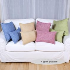 You will love the CONFORT cushion. With its blend of cotton and acrylic, this cushion is so soft. Available in 4 lively colors : lime, yellow, dark pink or royal blue.