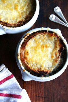 French Onion Soup - NO STOCK USED, just 6 lbs of caramelized onions, water, salt, pepper and a few other things to amp up the flavor!