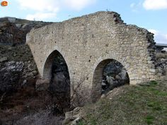 The ruins of the Byzantine Aqueduct bridge, built 800 years ago near Feres #Alexandroupoli #Greece,