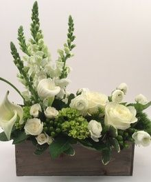 Custom flower arrangement by Kansas City Florist, Toblers Flowers #KC #whiteflowers