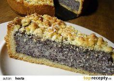 Německý dort s mákem a tvarohem recept - TopRecepty.cz Baking Recipes, Cookie Recipes, Dessert Recipes, Czech Desserts, Fruit Bread, Czech Recipes, Vegan Recepies, Sweet Cakes, Sweet And Salty