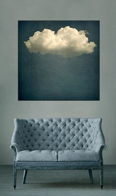 Remember this gorgeous cloud picture? I first ran it on the blog a year ago as part of the 10 Beautiful Rooms series. There were masses of comments as everyone demanded to know where the image was from and wanted to buy it. The image was, at the time credited to a Chessy Welch for… Crazy Home, Trendy Home Decor, Blue Painting, Decor Interior Design, Interior Decorating, Interior Ideas, Home Decor Furniture, Chair Design, Home Decor Inspiration