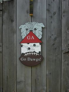 georgia bulldogs, college dorm, decorations, college dorm decor, sports decor, for boys room, bulldog door hanger, sports door hanger