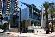 San Diego Children's Museum, California, // Architect: Rob Wellington Quigley FAIA  2008 Hall Construction, Faia, Children's Museum, Walkway, Balcony, San Diego, Buildings, Multi Story Building, California