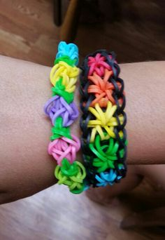 Tulip and Starburst bracelet made with love using Rainbow Loom