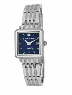 Roberto Bianci Women's 1809L_BL All Steel Square Watch Roberto Bianci. $78.29. Stainless-steel case; blue dial; date function. Case diameter: 22 mm. Water-resistant to 99 feet (30 M). Mineral crystal. Precise Swiss-quartz movement. Save 70% Off!