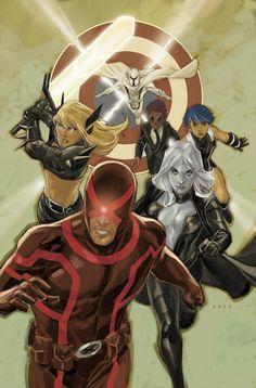 Cyclops, Magik, Magneto, Emma Frost, new healer guy and Tempus