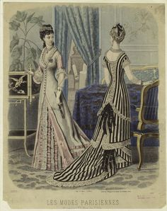 France, late 1870's, Les Modes Parisiennes...love the one on the right